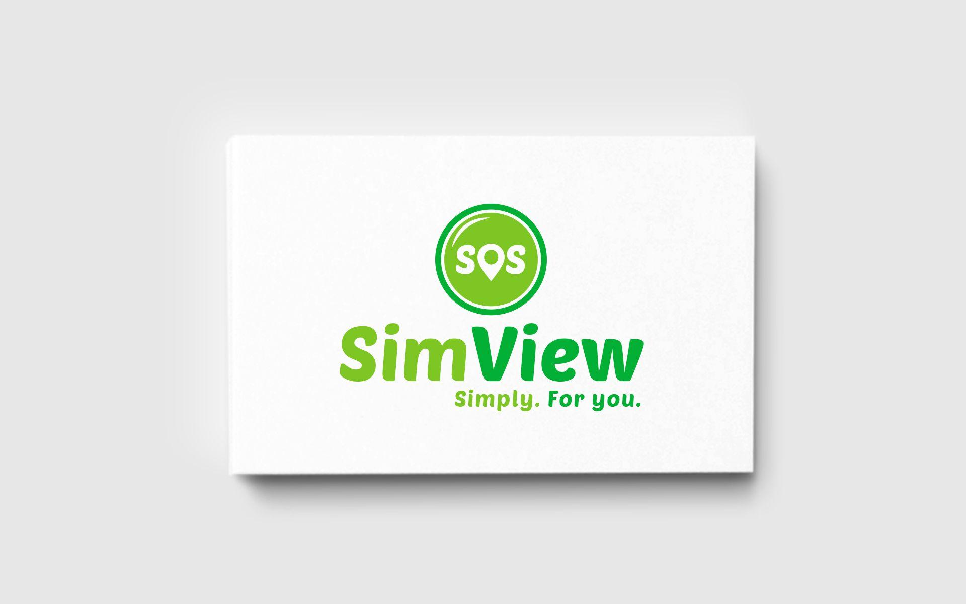 SimView лого и фирменный стиль - дизайнер U4po4mak