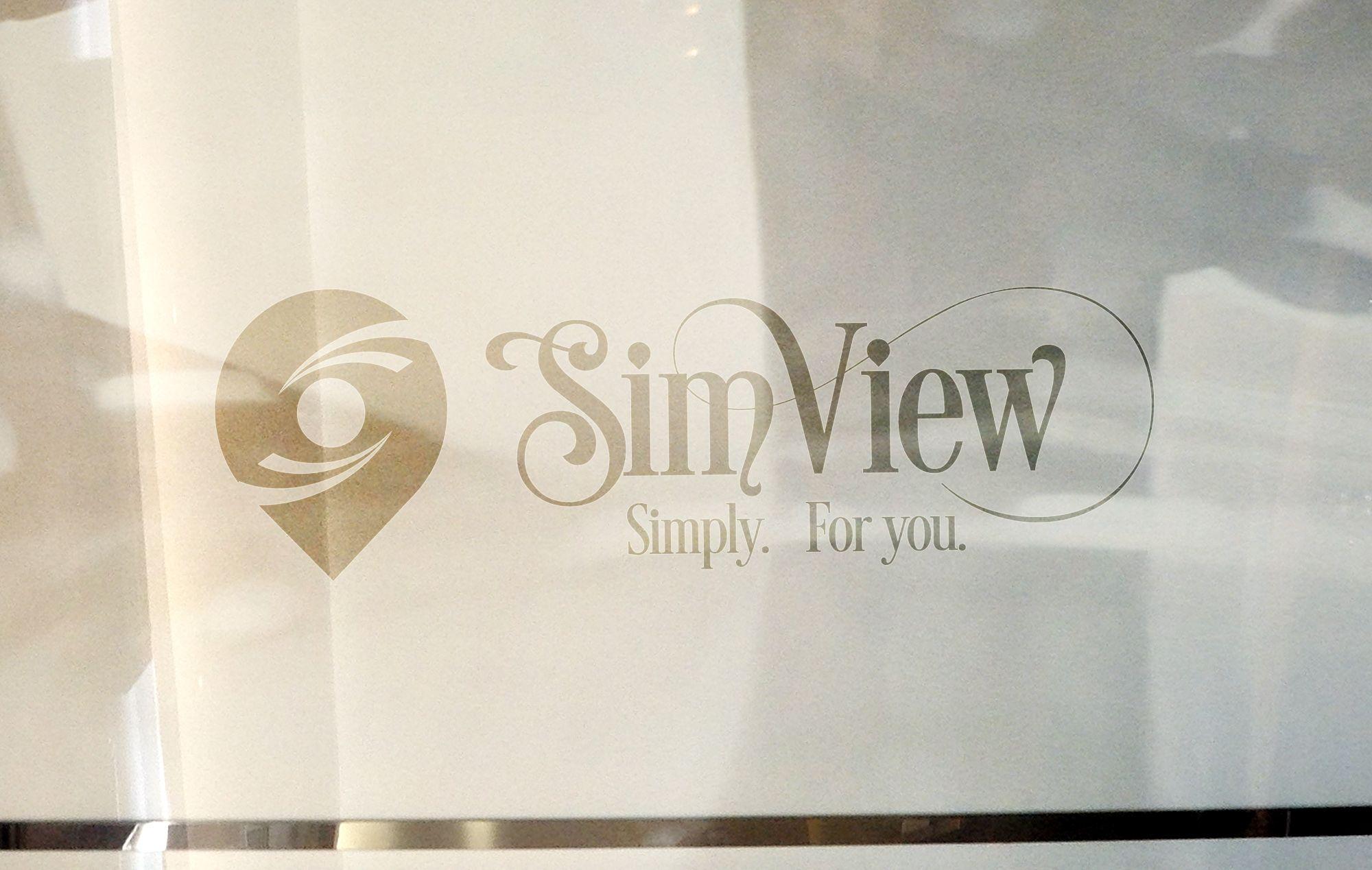 SimView лого и фирменный стиль - дизайнер Gas-Min