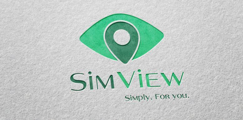 SimView лого и фирменный стиль - дизайнер ms-katrin07