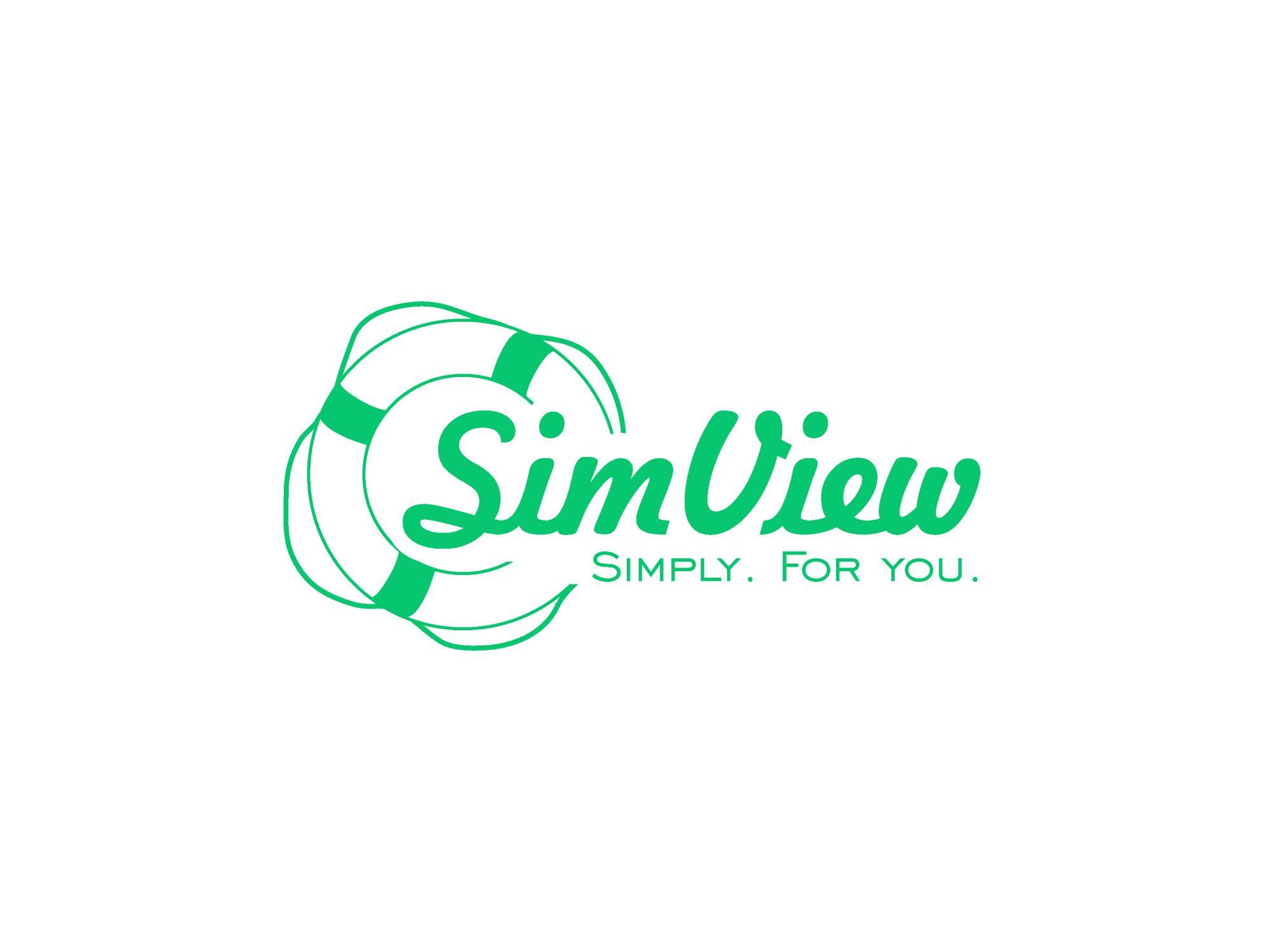 SimView лого и фирменный стиль - дизайнер SeagullJohn