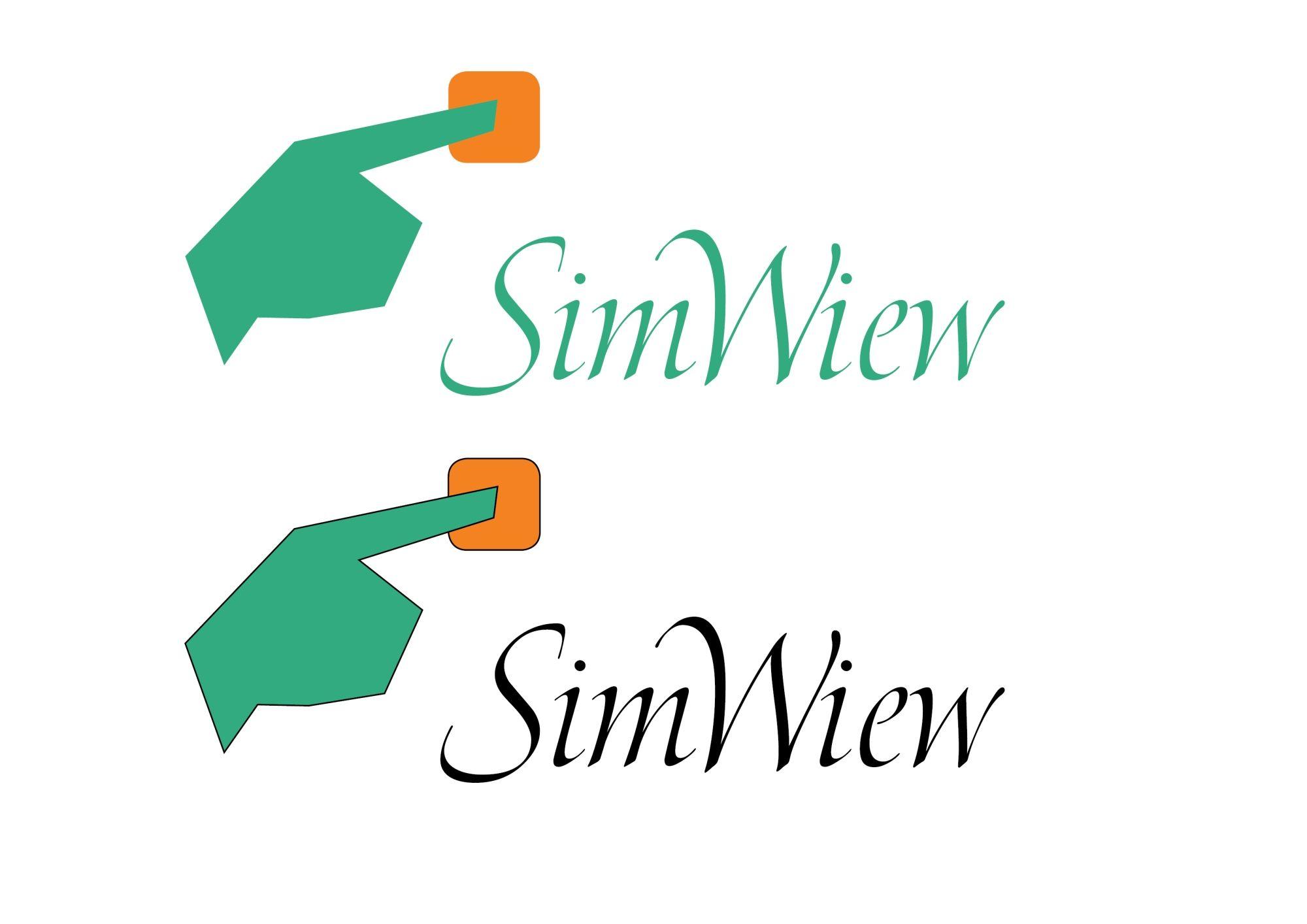 SimView лого и фирменный стиль - дизайнер vaber