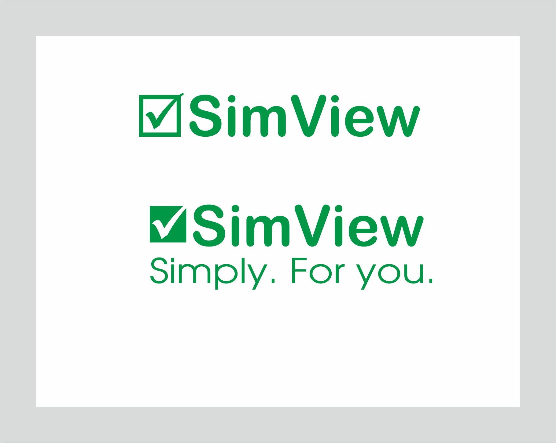 SimView лого и фирменный стиль - дизайнер studiavismut