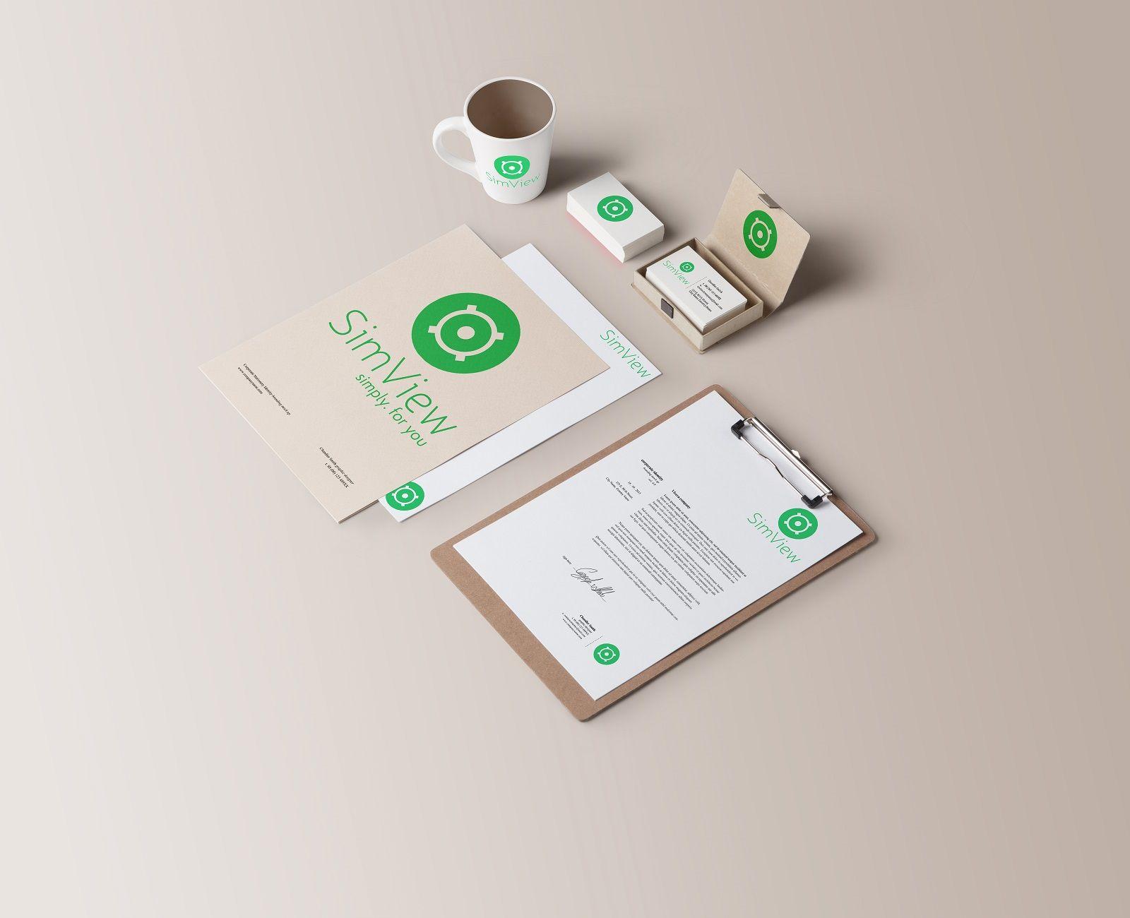 SimView лого и фирменный стиль - дизайнер Diostaples