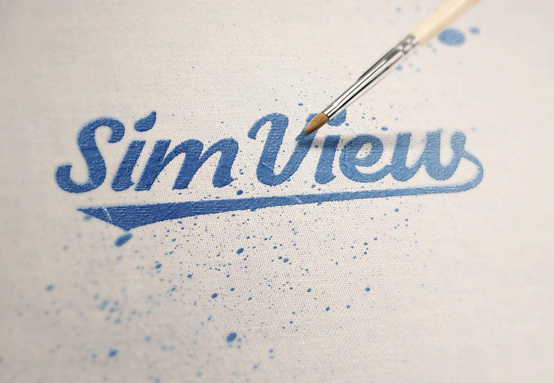 SimView лого и фирменный стиль - дизайнер banena