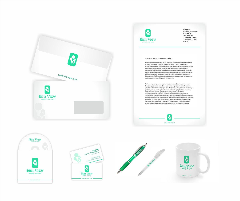 SimView лого и фирменный стиль - дизайнер ViperW