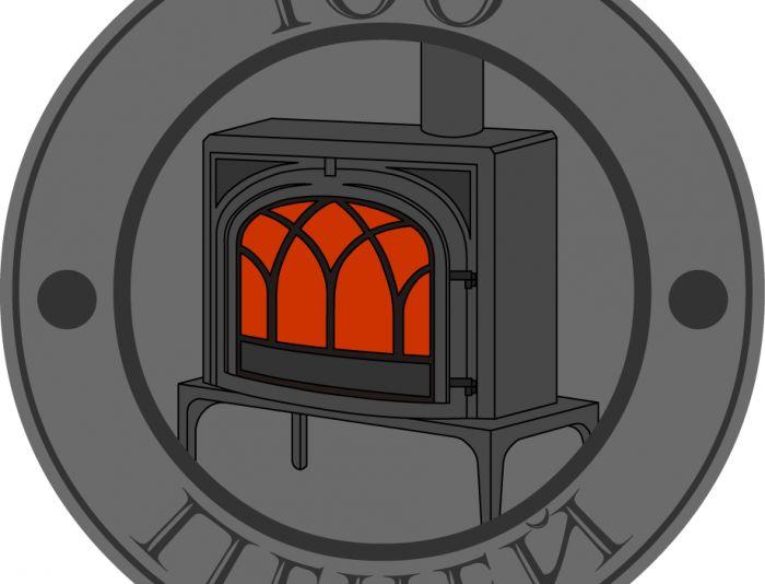 Логотип 100 печей - дизайнер origamer