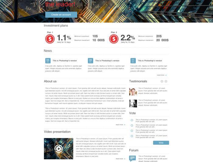Разработка дизайна главной страницы - дизайнер Alexorekhvo