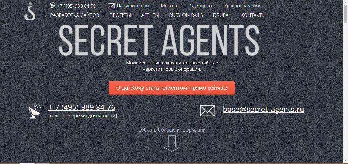 Логотип для веб-разработчика Secret Agents - дизайнер Diostaples