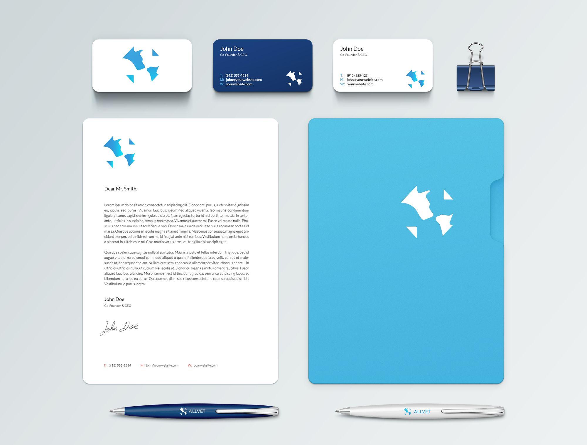 Создание логотипа и стиля ветеринарной компании - дизайнер dasterdesigner