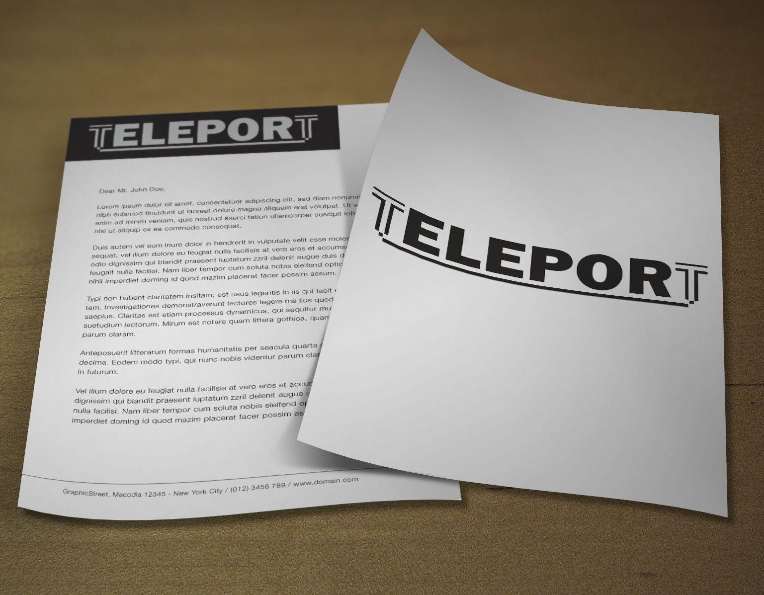 Логотип для Телепорт - дизайнер pumbakot
