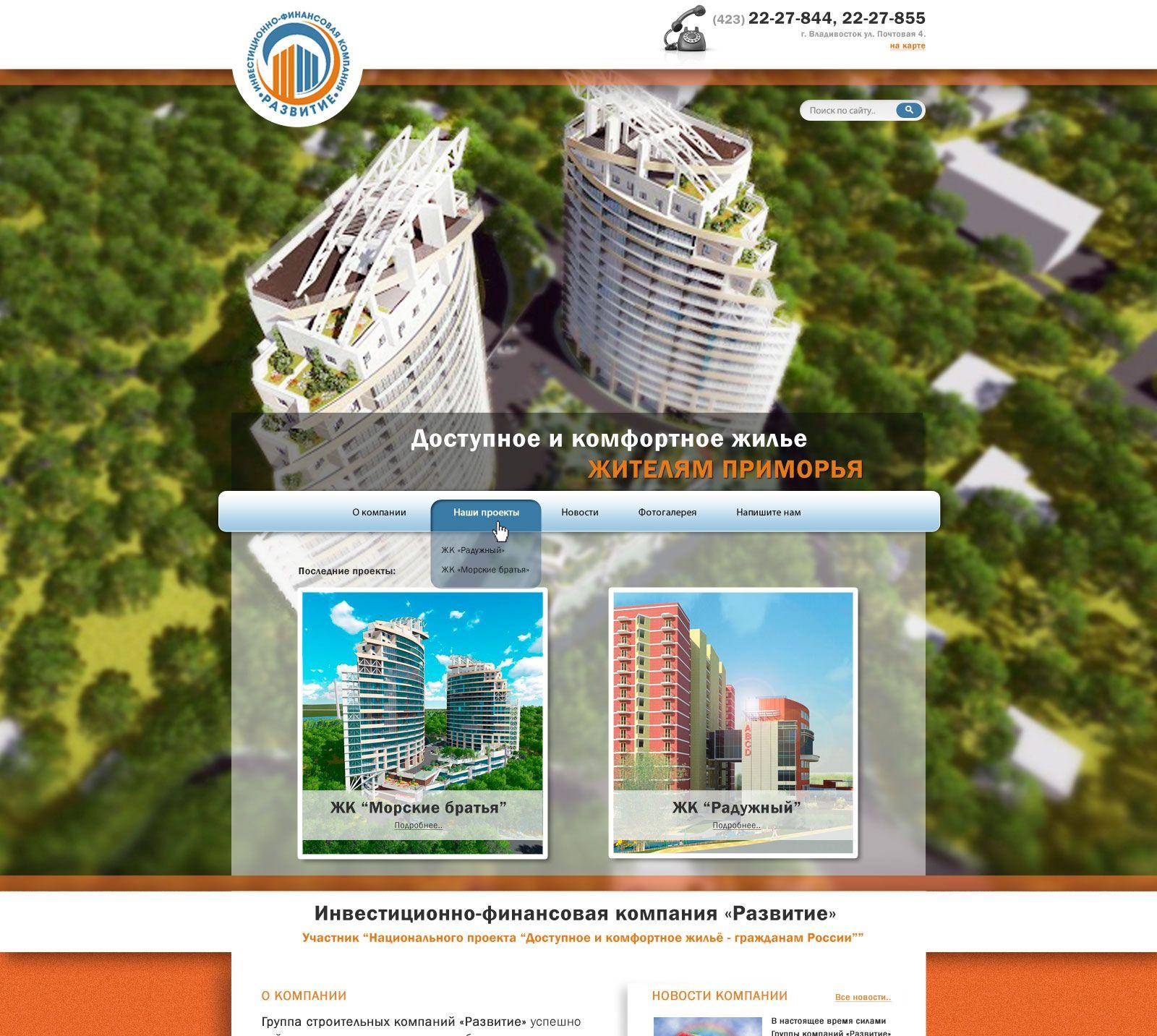 Имиджевый сайт для строительной компании - дизайнер laenka