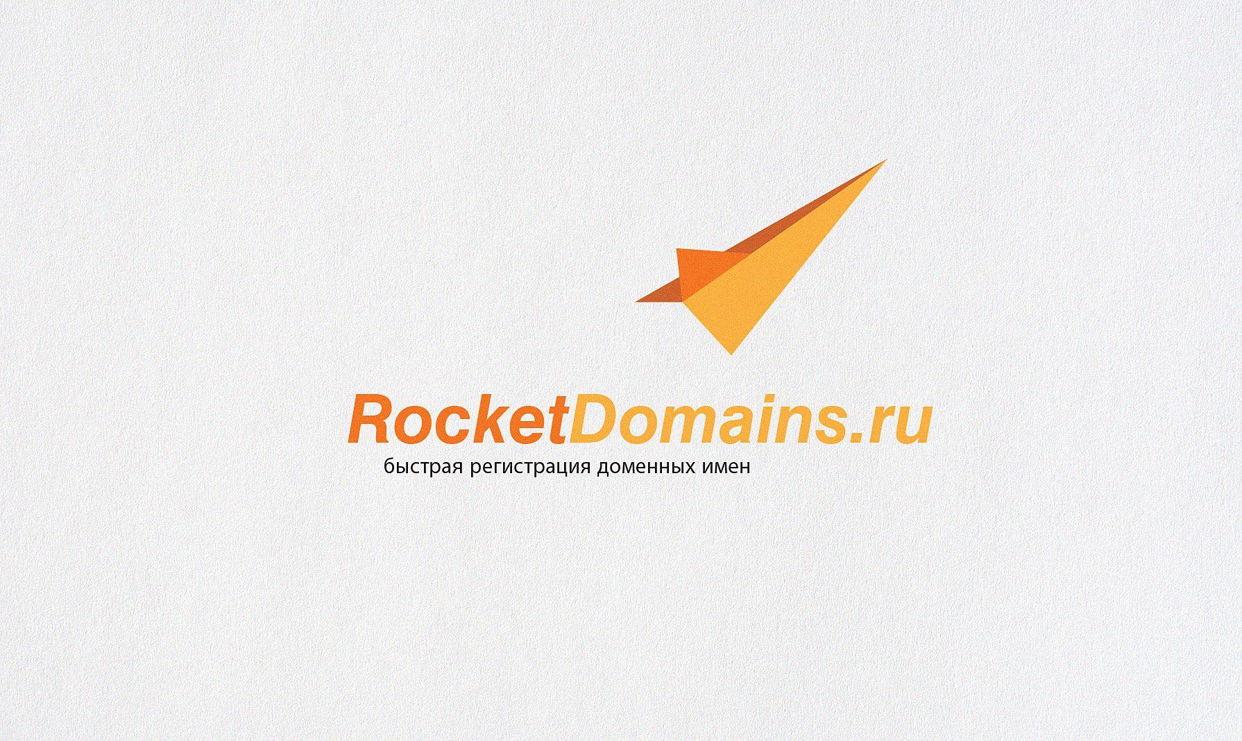 Логотип для регистратора RocketDomains.ru - дизайнер ChameleonStudio