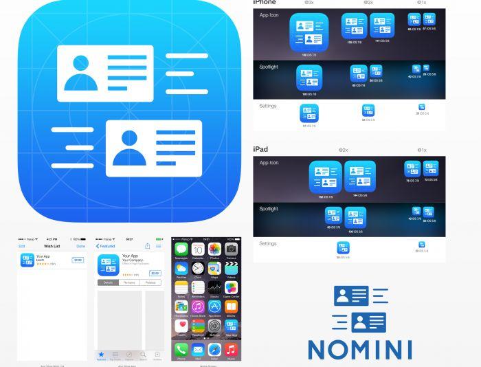 Логотип и иконка для iOS-приложения Nomini - дизайнер U4po4mak