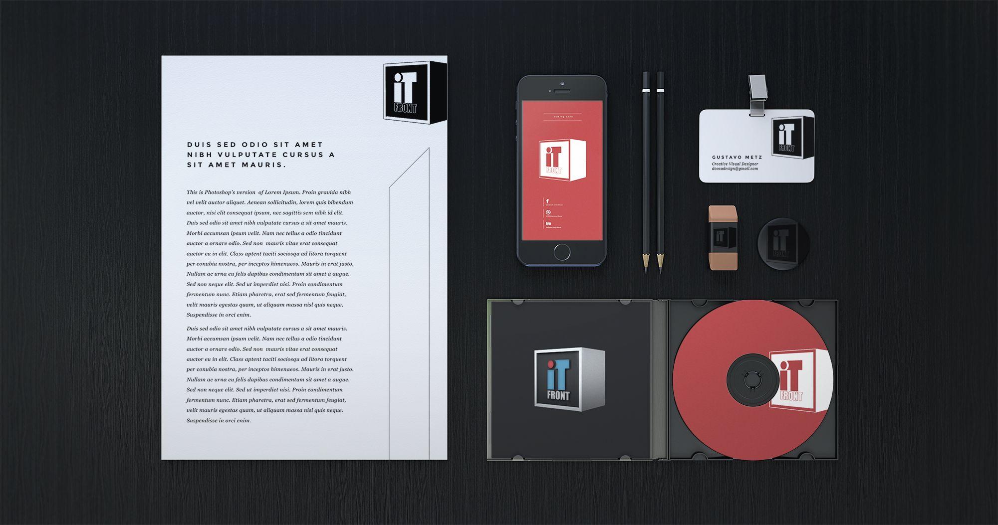 Создание логотипа компании АйТи Фронт (itfront.ru) - дизайнер ibaziyan