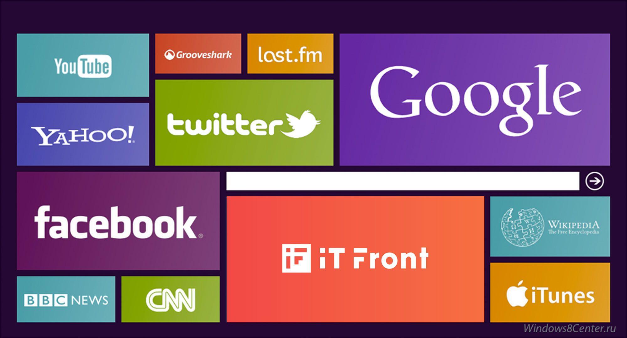 Создание логотипа компании АйТи Фронт (itfront.ru) - дизайнер Knock-knock