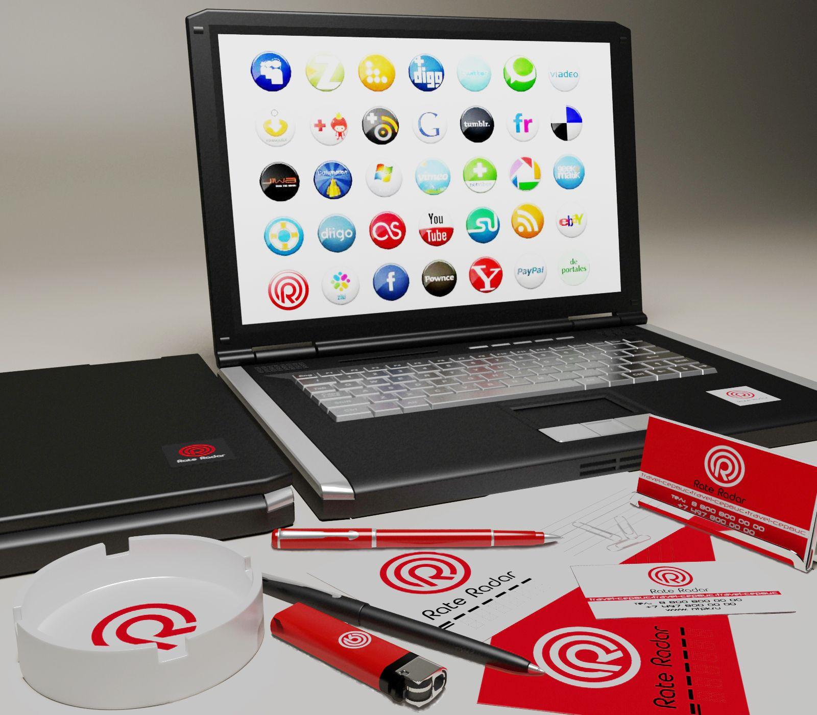 Фирменный стиль + лого для Rate Radar - дизайнер Ryaha