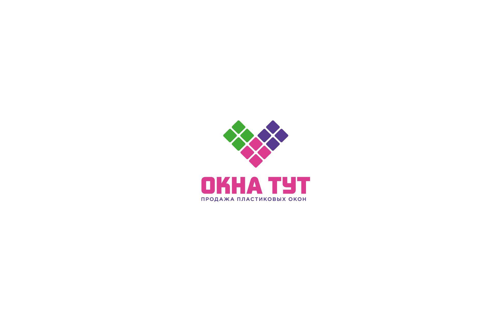 Логотип для сайта Окна тут - дизайнер U4po4mak