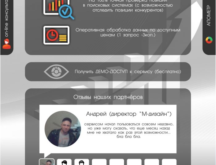 Сервис съема позиций в поисковых системах - дизайнер graphin4ik