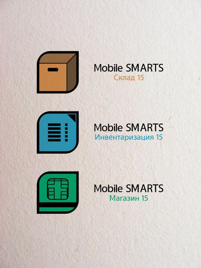 Логотипы серии программных продуктов Mobile SMARTS - дизайнер Maslaev