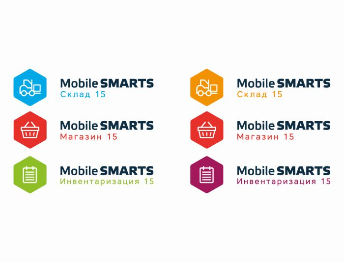 Логотипы серии программных продуктов Mobile SMARTS - дизайнер U4po4mak