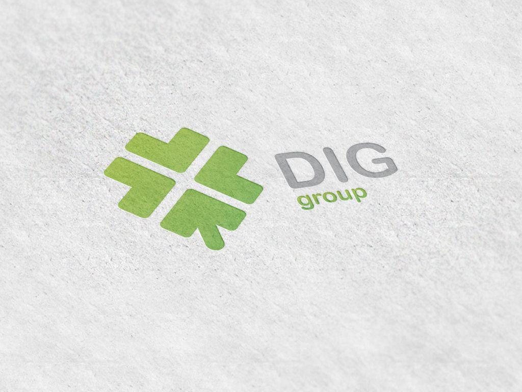 Логотип для финансового брокера ДИГ - дизайнер deeftone