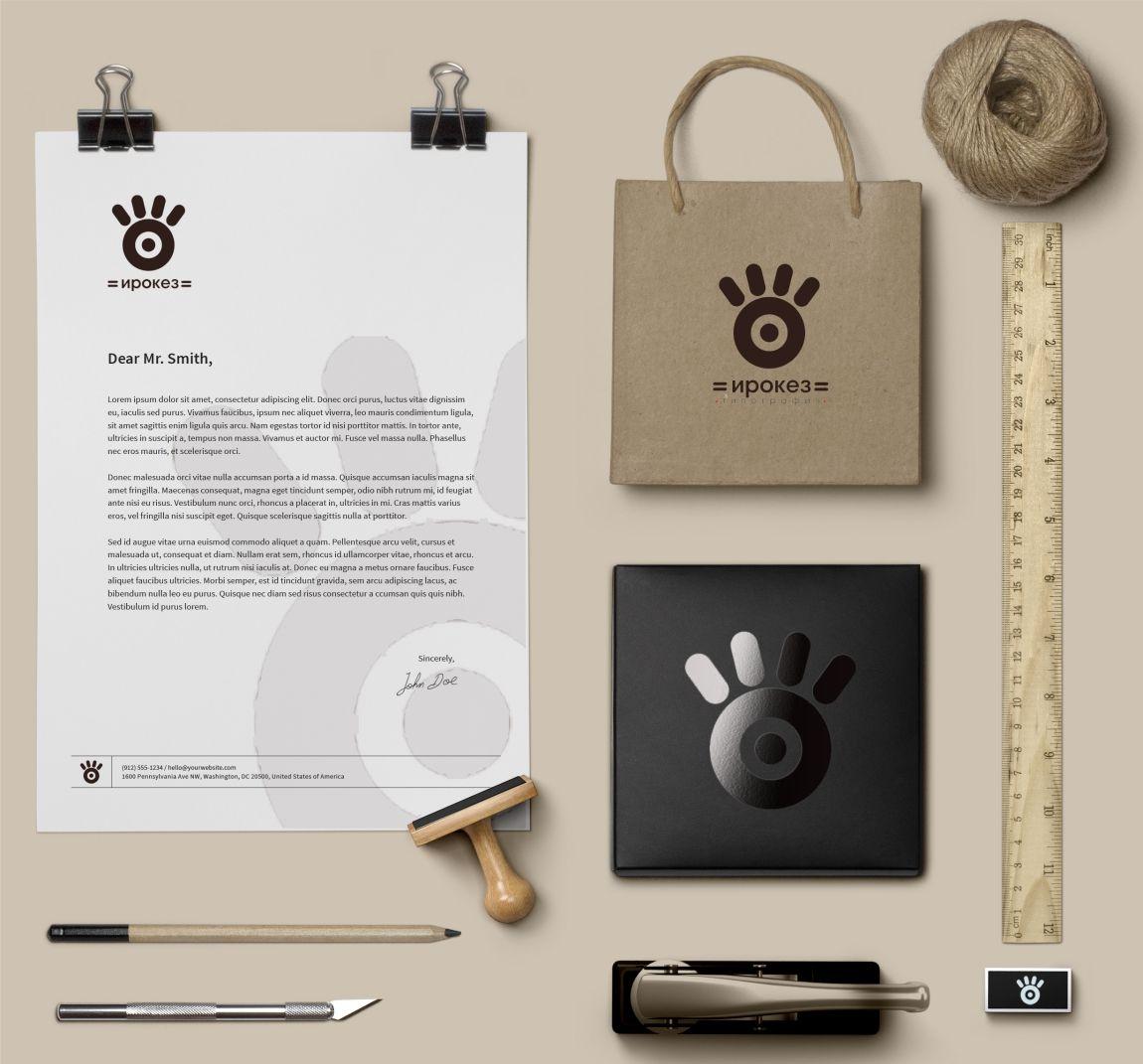 Редизайн лого и дизайн ФС для типографии Ирокез - дизайнер KaktusEva