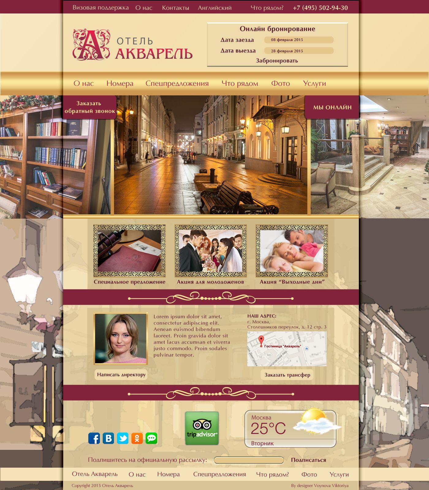 Дизайн сайта отеля - дизайнер viva0586