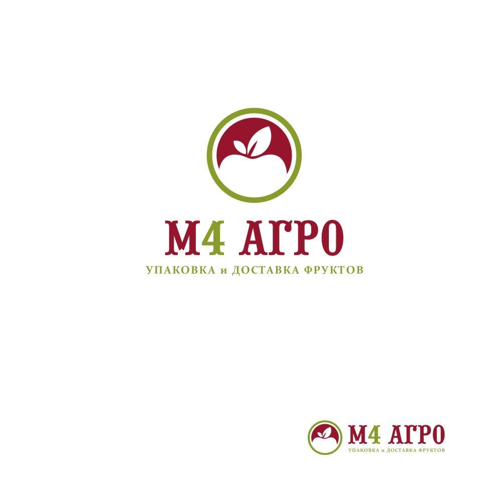 Логотип для M4 АГРО - Российские фрукты - дизайнер DINA