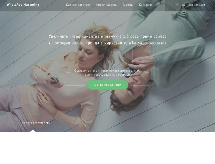 Landing page для WhatsApp рассылок - дизайнер irkochnev