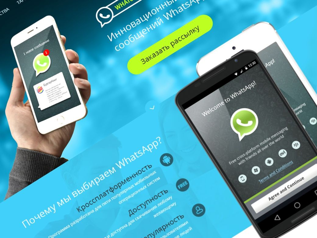 Landing page для WhatsApp рассылок - дизайнер slavikx3m