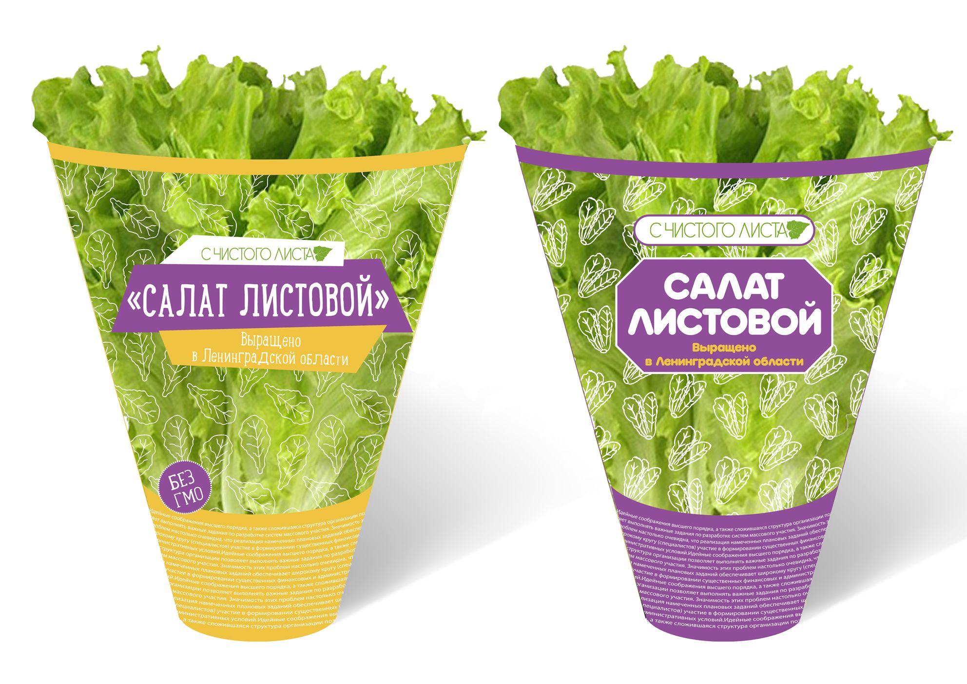 Упаковка для салата в горшочке от ООО Круглый Год - дизайнер TonyMak