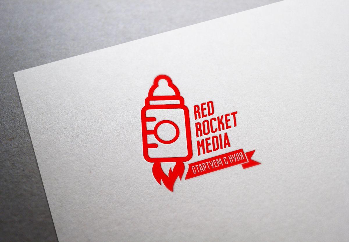 Лого и фирменный стиль для RedRocketMedia - дизайнер peardesign