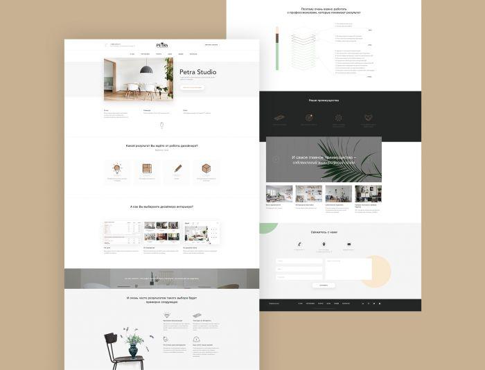 Веб-сайт для Petrastudio.ru ( сайта нет )  - дизайнер Dragon_PRO