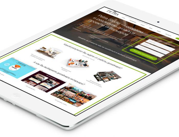 Веб-сайт для Petrastudio.ru ( сайта нет )  - дизайнер noxxdesign