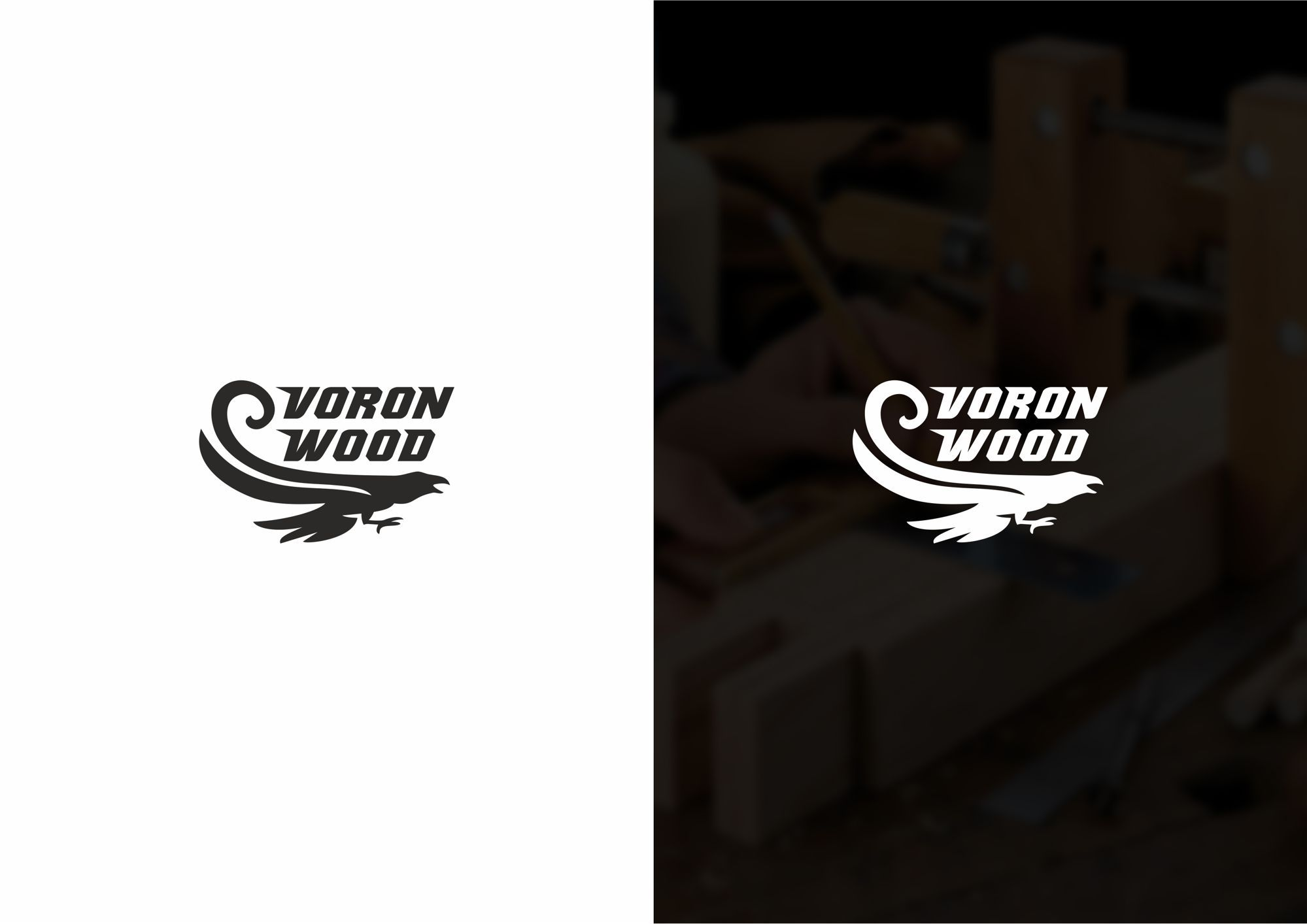 Логотип для Voron-Wood - дизайнер rowan