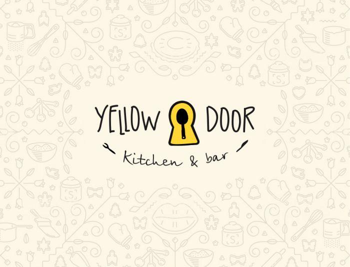 Логотип для Yellow Door kitchen&bar - дизайнер Progresserr