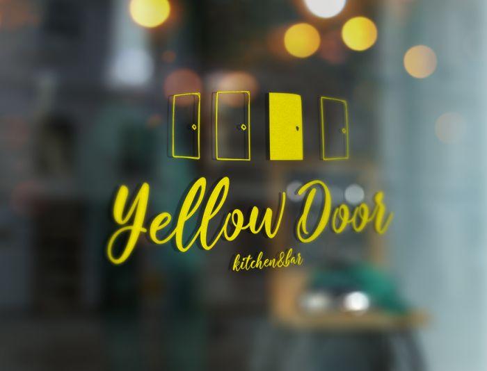 Логотип для Yellow Door kitchen&bar - дизайнер Tamara_V