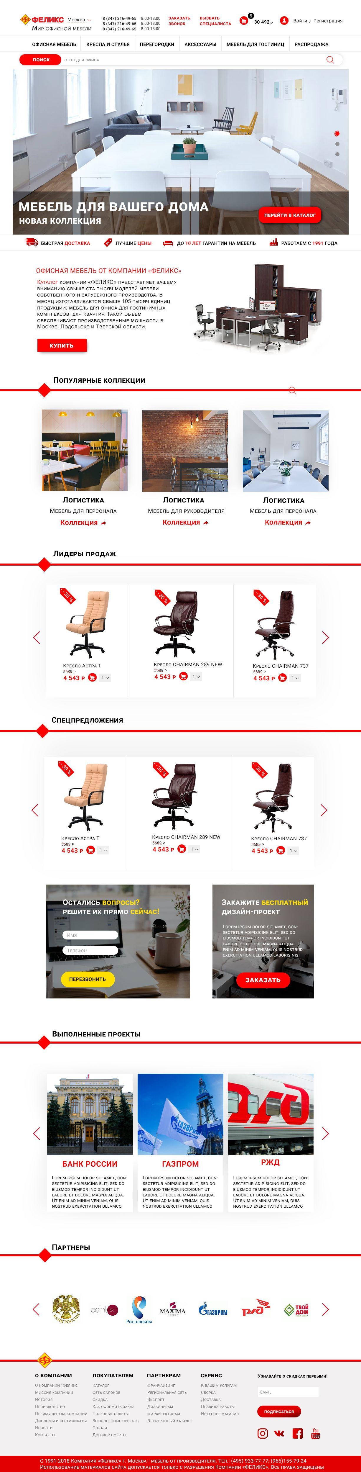 Веб-сайт для https://www.felix.ru - дизайнер Sleepless