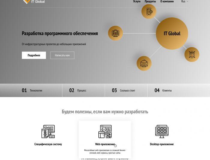Веб-сайт для IT Global (itglobal.ru, ООО
