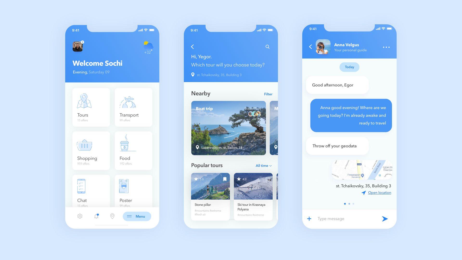 Мобильное приложение для Экскурсии - дизайнер Borokeeper