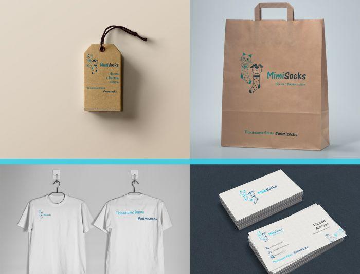 Лого и фирменный стиль для MimiSocks.ru - дизайнер MashaHai