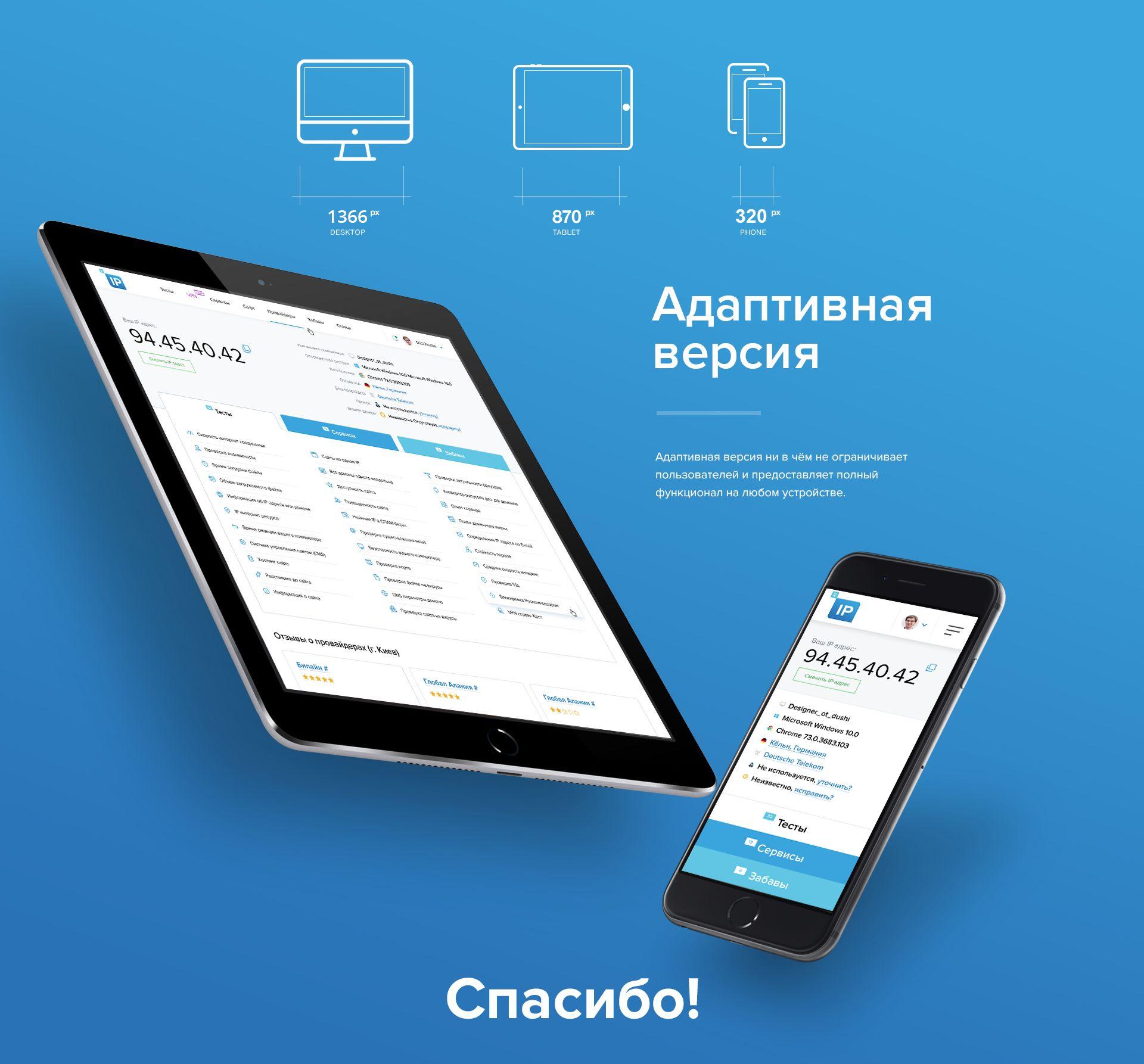 Веб-сайт для 2ip.ru - дизайнер melyacrimea
