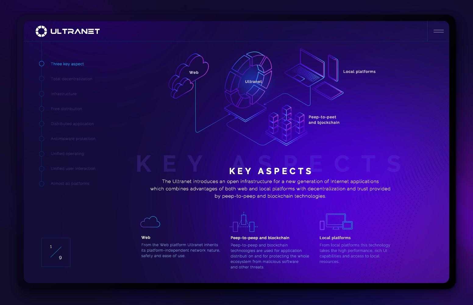 Веб-сайт для Хайтек сайт с нестандартный дизайном - дизайнер beyba