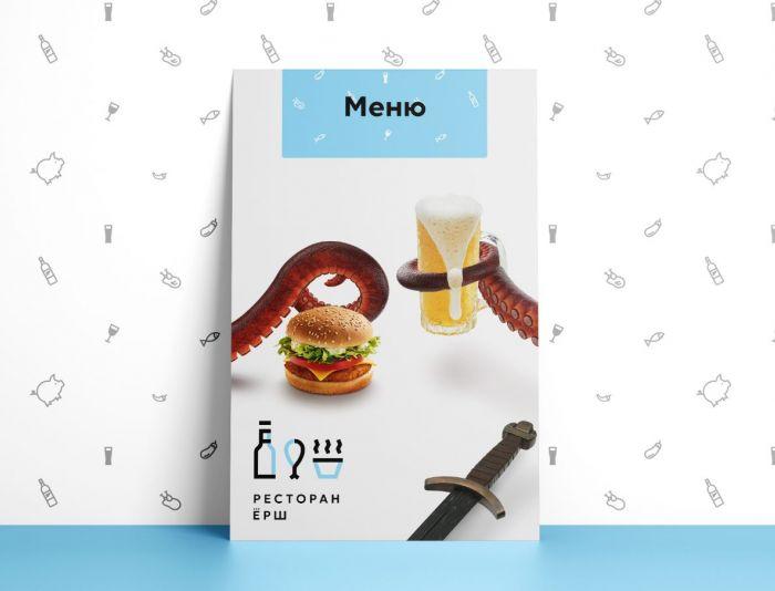Обложка для сеть ресторанов Ёрш - дизайнер Alesvo