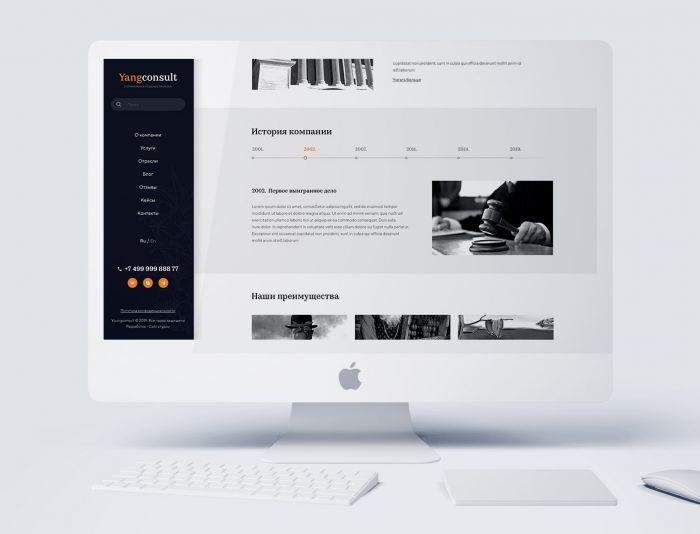 Веб-сайт для Yangconsult.com - дизайнер dPaxbit