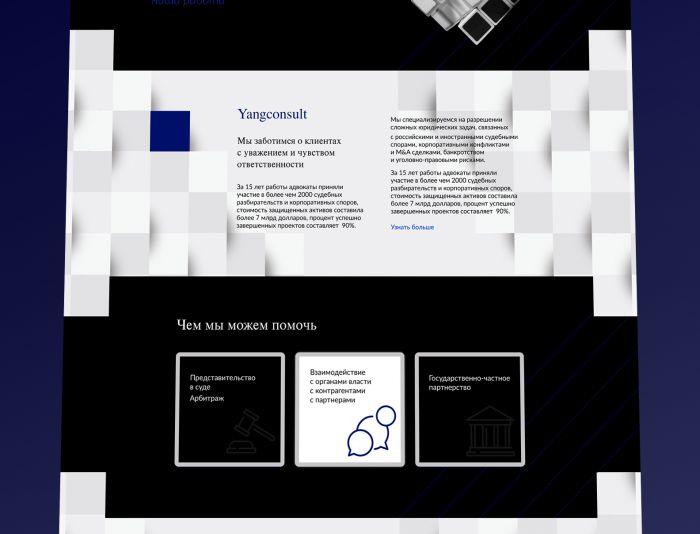 Веб-сайт для Yangconsult.com - дизайнер nata31