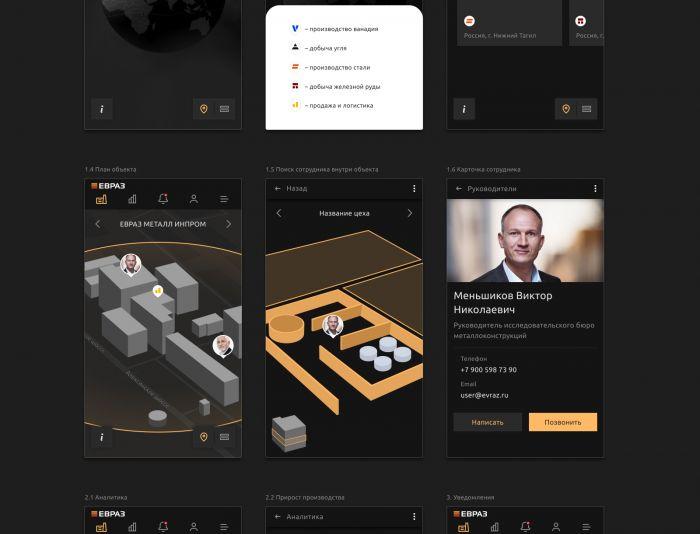 Мобильное приложение для ЕВРАЗ - дизайнер Tanya_Mak_